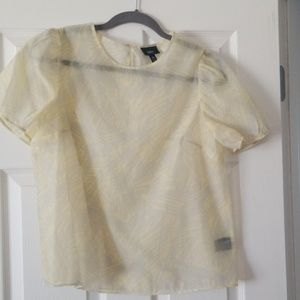 Mossimo Tops - Mossimo Light Yellow Sheer Blouse